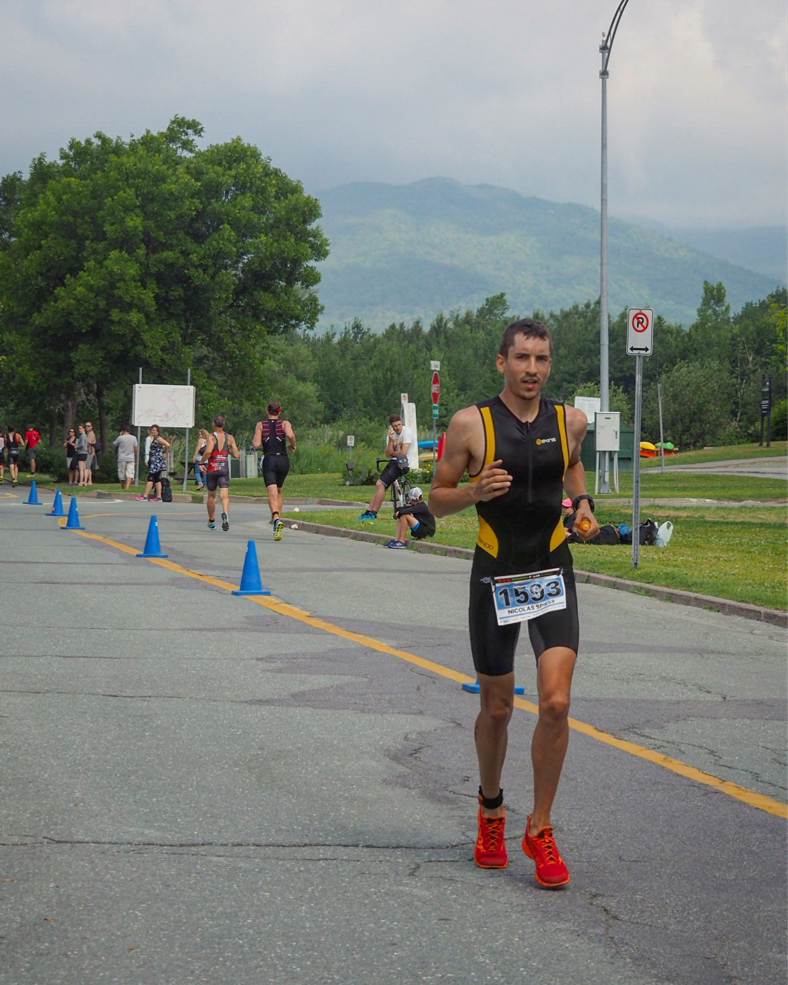 mon premier triathlon olympique à magog : le run